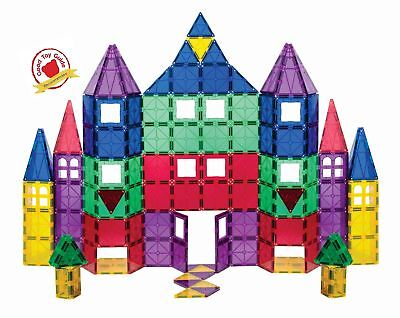 Playmags 100 + 18 Piece Set: Now with Stronger Magnets, Sturdy,Super Durable