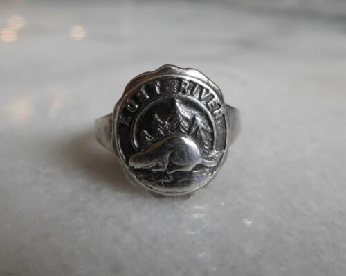 Antique Collectible LOST RIVER Sterling Silver Souvenir Ring ~ Nicely Detailed