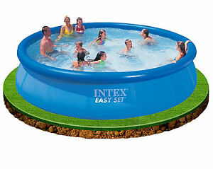 Intex 15ft x 36 easy set inflatable swimming pool great fun for kids 28160 ebay Inflatable quick set swimming pool