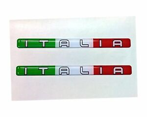 2x-Italia-Domed-3D-Flag-Stickers-Italy-Tricolore-for-Car-Bike-Helmet-Locker