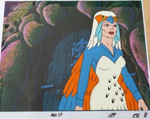 He-Man animation art - original production Cel & copy background - SORCERESS
