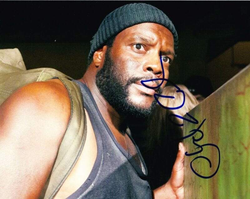 CHAD COLEMAN SIGNED 8X10 PHOTO AUTOGRAPH THE WALKING DEAD THE WIRE TYRESE COA B