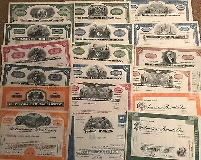 Mixed Lot of 100 Stock Certificates and Bonds, At least 14 different varieties