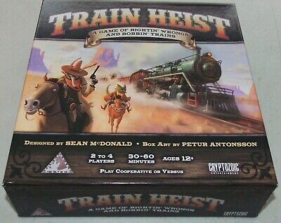 Train Heist board game with wooden components (kickstarter)