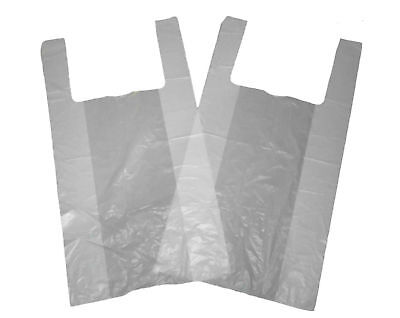 50 Plastic Vest Bottle Carrier Bags