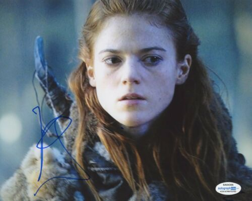 Rose Leslie Game of Thrones Autographed Signed 8x10 Photo COA
