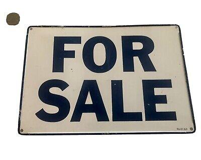 """vintage metal sign """" For Sale"""" In Cobalt Blue!"""