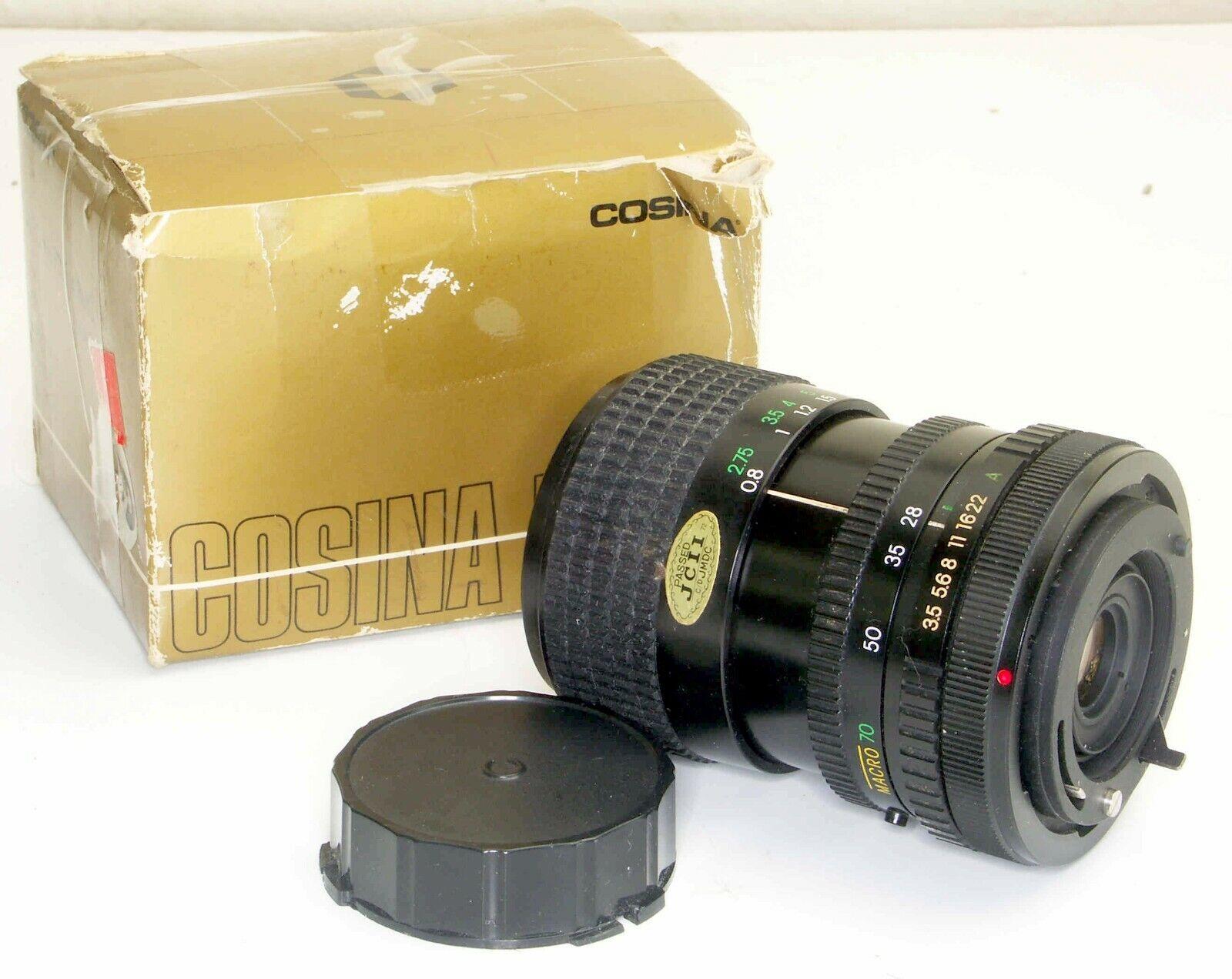 Cosina 28-70mm F3.5-4.8 MC Macro ZOOM For Canon FD Mount Cameras W/ Box Caps  - $19.99