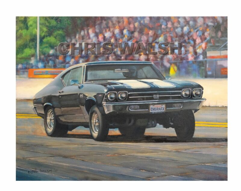 """Drag Racing action prints - """"The Mark IV Charge"""", 69 Chevelle ..way cool!"""