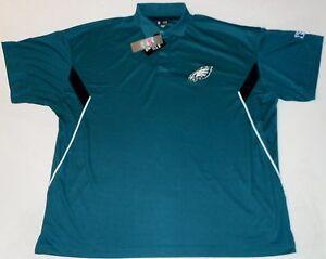 Philadelphia eagles golf coaches polo shirt big mens 4x for Mens 5x polo shirts