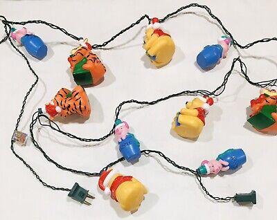NOMA Disney Winnie The Pooh 10 Christmas String Lights Piglet Tigger Blowmold