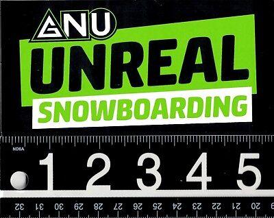 GNU Snowboards STICKER Decal NEW Unreal Blue