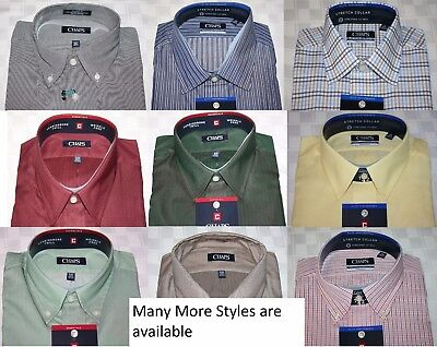 Chaps Classic Fit Wrinkle Free Men's Shirts NEW Assrtd Sizes, Colors & -