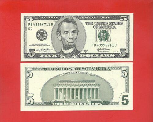 FRN 2003A $5 -- FB/B (fw) -- Uncirculated