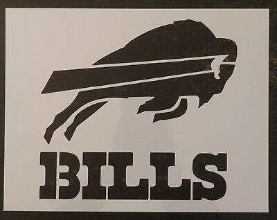 "Buffalo Bills 11"" x 8.5"" Custom Stencil FAST FREE SHIPPING"