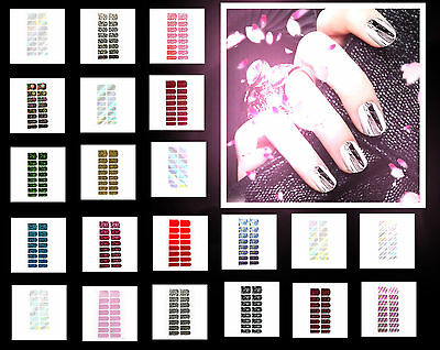 16x Nagelfolie Metallic Effekt Aufkleber Nail Foil Nail Art Stripes 21 Modell NF