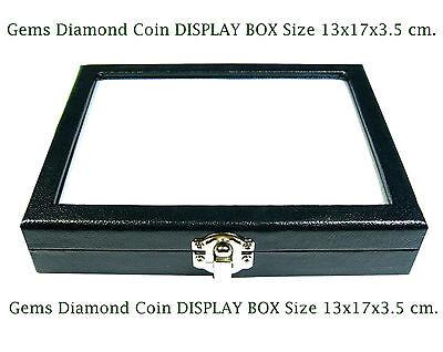 Top Glass Display Box 13x17 Cm. Show Jewelry Jar Gems Stone Diamond Coin No.12