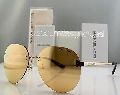 Michael Kors Women's Round Sunglasses MK1037 12127J SYDNEY Gold Gold Mirror (Sunglass Sydney)