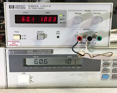 Hp Agilent E3617a Variable Dc Power Supply 0-60v 1a - Load Tested