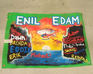 SURVIVOR-CARAMOAN-SIGNED-ENIL-EDAM-FLAG