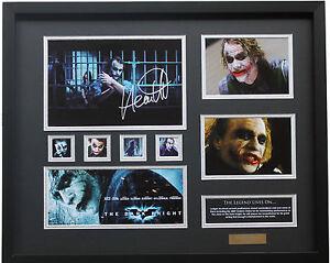 New The Joker Heath Ledger Signed Batman Limited Edition Memorabilia