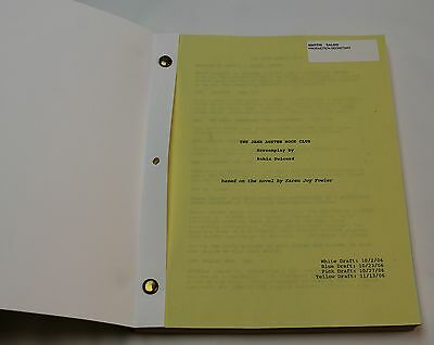 The Jane Austen Book Club * 2006 Original Movie Script * Drama Comedy Romance