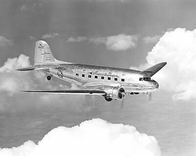 """Douglas DST DC-3 American Airlines """"Flagship San Francisco"""" IN FLIGHT VIEW Photo"""