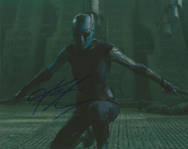 GFA Guardians of the Galaxy * KAREN GILLAN * Signed 8x10 Photo AD3 PROOF COA