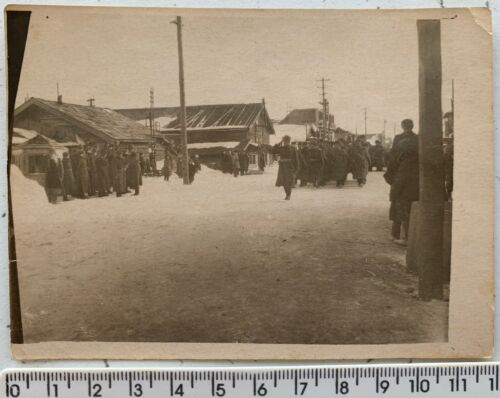 WWII Soviet-Japanese War Red Army Parade ANIVA South Sakhalin Orig Vintage Photo