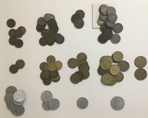 Lot of 97 Germany Weimar Republic coins 1 2 5 10 50 rentenpfennig reichspfennig