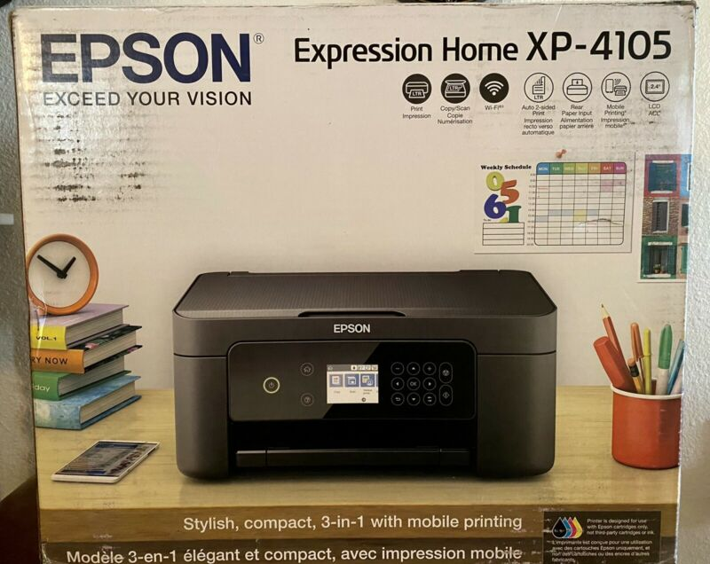 New Epson Expression Home XP-4105  Wireless All-in-One Color Inkjet Printer 🖨