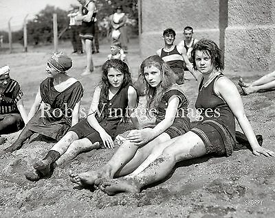 Vintage Flapper 4 Women Swimsuits Photo early 1920s Flappers Jazz Prohibition   - Flapper Women