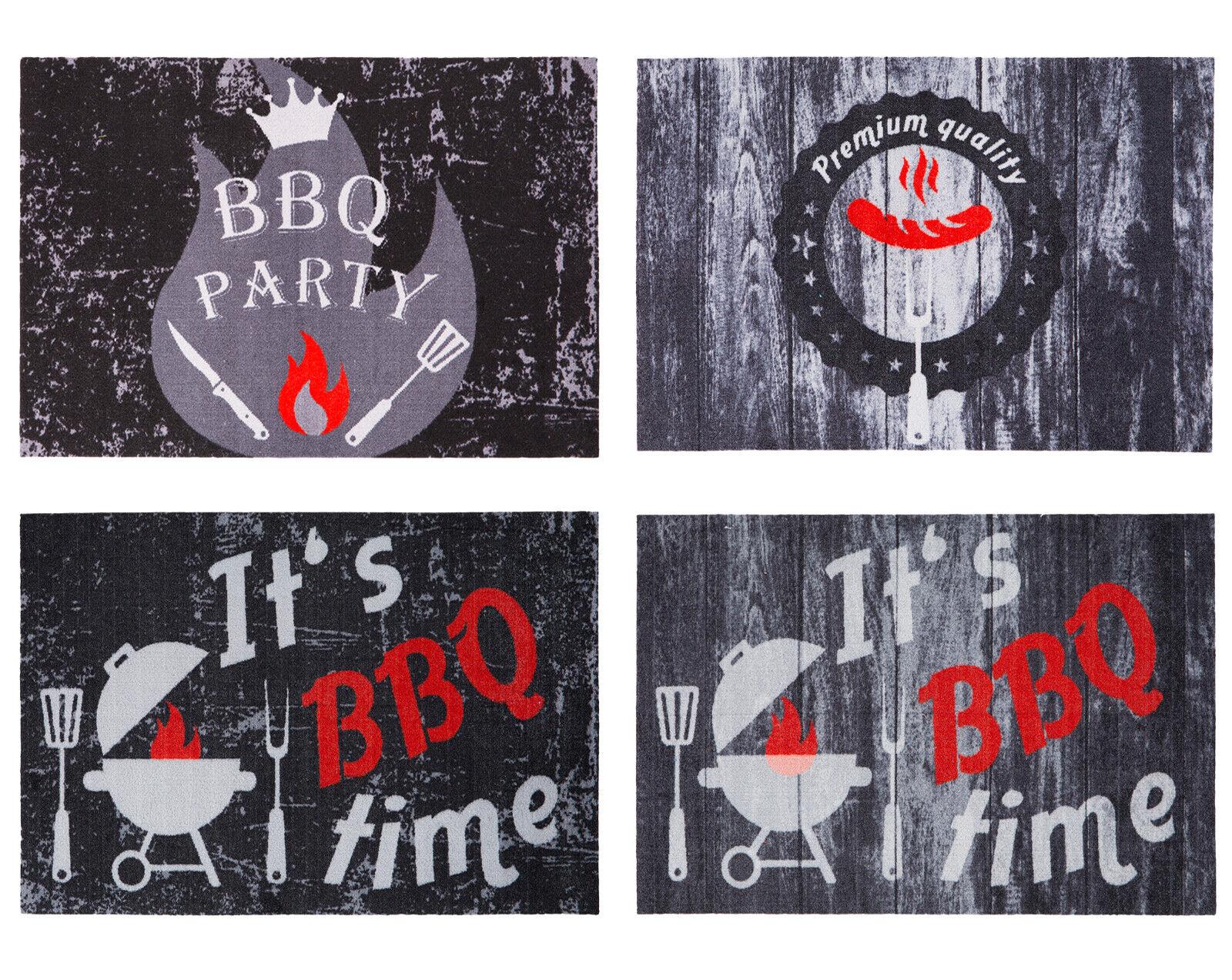 BBQ Matte Grillmatte Grillteppich Grillunterlage Outdoormatte Bodenschutzmatte