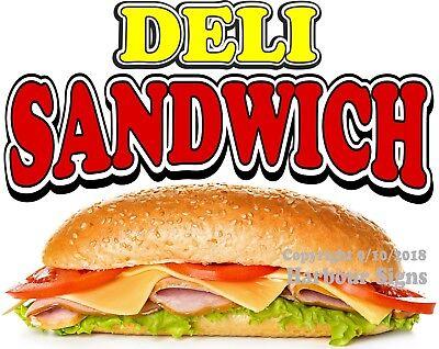 Deli Sandwich Decal Choose Your Size Food Truck Concession Vinyl Sticker