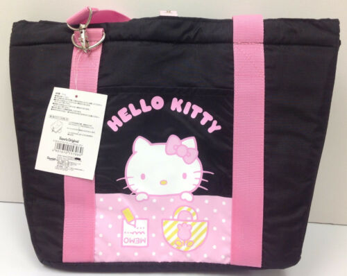 Hello Kitty Sanrio Shopping Basket Insulated Bag Black / Pink ~NEW~