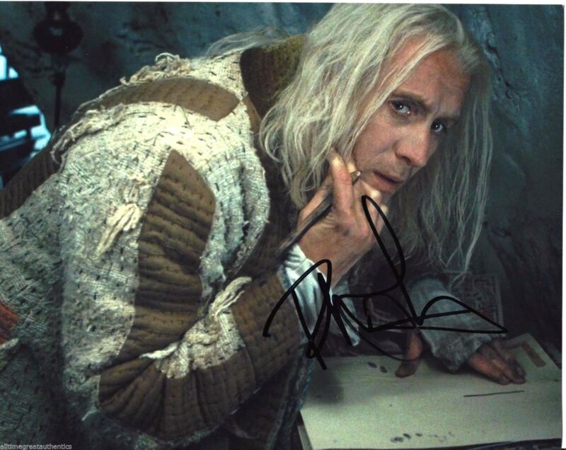 ACTOR RHYS IFANS HAND SIGNED HARRY POTTER 8X10 PHOTO W/COA ELEMENTARY