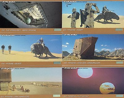 STAR WARS TRILOGY SPECIAL EDITION WIDEVISION 1997 TOPPS BASE CARD SET OF 72