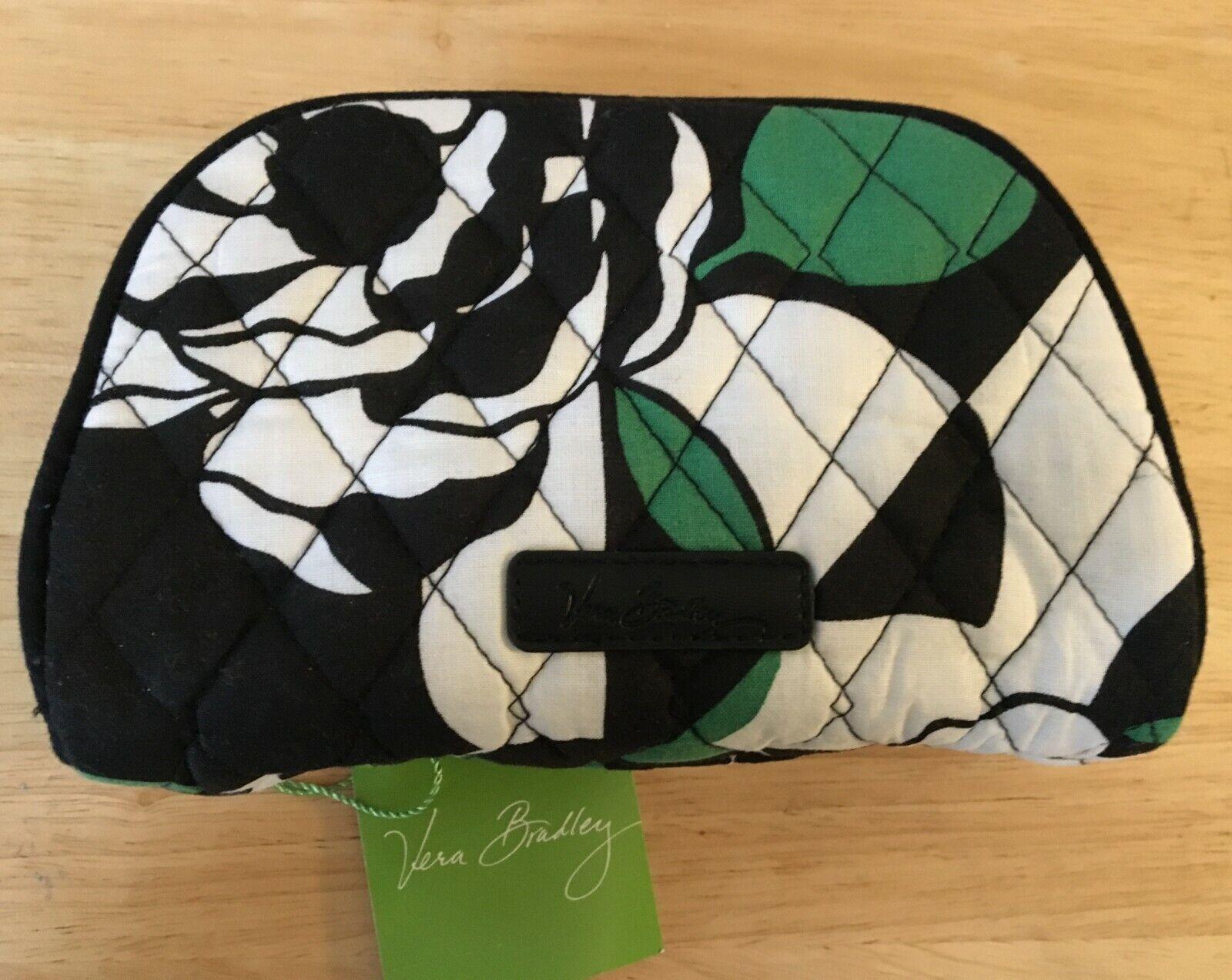 Vera Bradley Small Zip Cosmetic Bag  Imperial Rose Green Bla