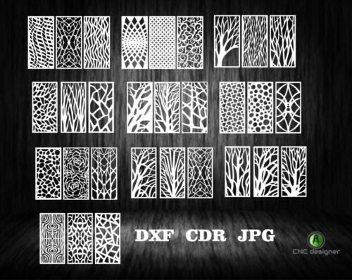 DXF-CDR of PLASMA LASER AND ROUTER Cut -CNC VECTOR 30 PANEL X3-ALL