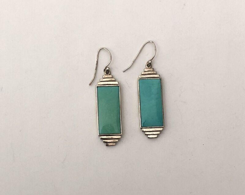 Vintage Sterling Silver Turquoise Dangle Earrings