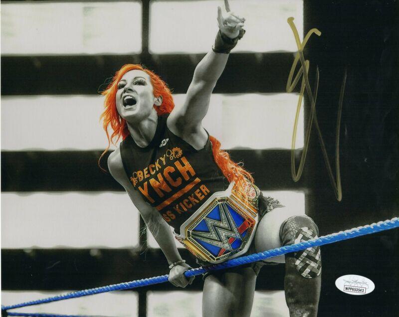 Becky Lynch Autograph 8x10 Photo WWE Womans Champ The Man Signed JSA COA 2