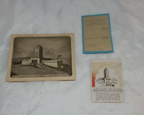 1933 Chicago Worlds Fair Sears Tower Small Paper Lot Free Shipping