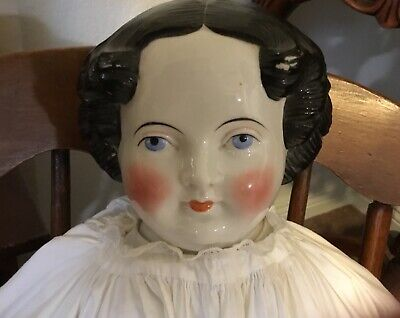 "HUGE 40"" ANTIQUE CHINA SHOULDER HEAD DOLL  9"" TALL AND 9"" -"