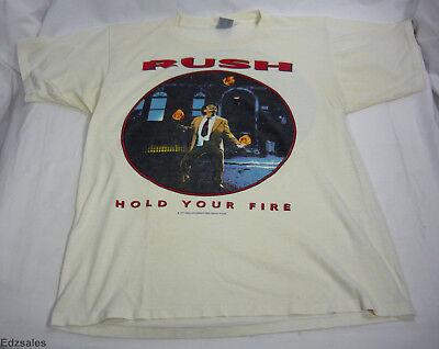 Vintage RUSH Hold Your Fire Tour Rock Concert XL Shirt