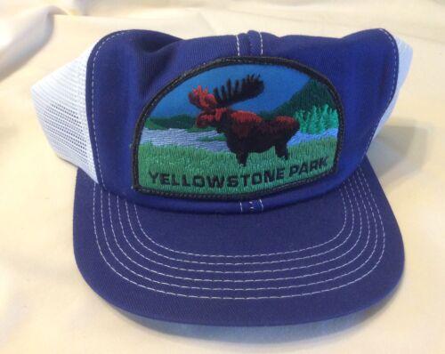 Rare Vintage 1980s New Yellowstone Park Hat SnapBack K-Brand Trucker Cap Moose