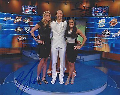 Elena Delle Donne Brittney Griner Skylar Diggins Signed 8X10 Photo Wnba Coa