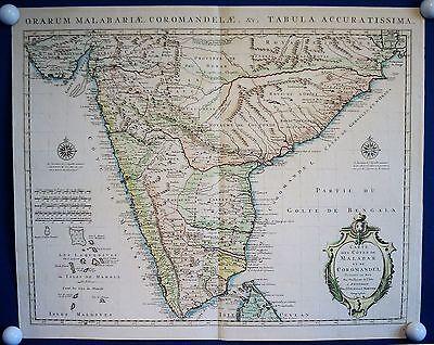 INDIEN sehr schöne Landkarte von de L'Isle bei Covens und Mortier um 1750.