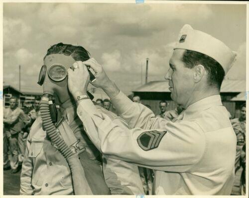 1940 USAAC Gas Mask training Hickam Field Hawaii 8x10 Photo