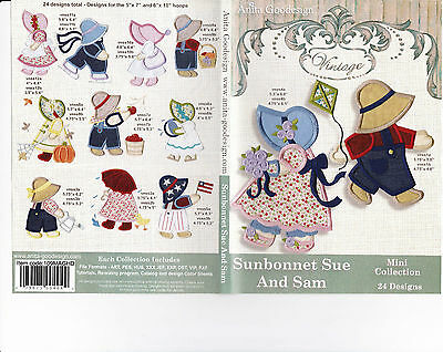 Sunbonnet Sue and Sam Anita Goodesign Embroidery Designs