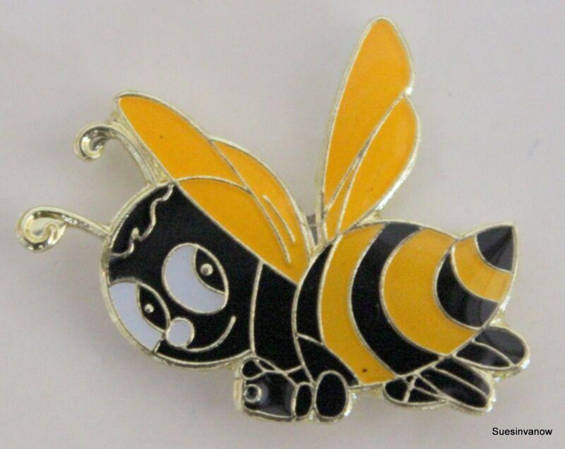 Hat Pin Bee Happy Cute Bumble Honey Maker Lapel Queen Buzz Tie Tack Black